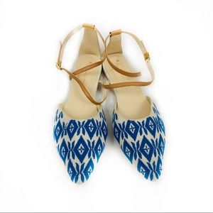 Anthropologie Laurie Strappy Flats 10M